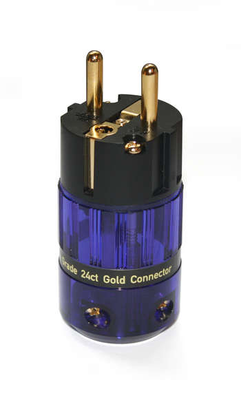 IsoTek 24ct Gold EU Shuko connector